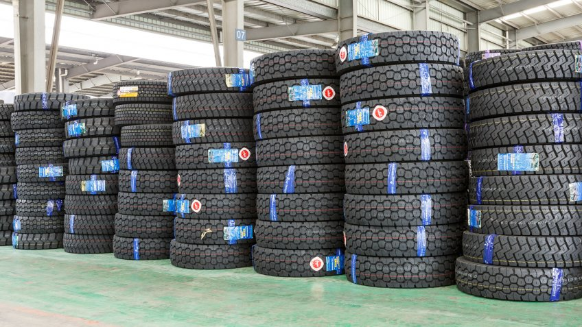 tires in Hangzhou China
