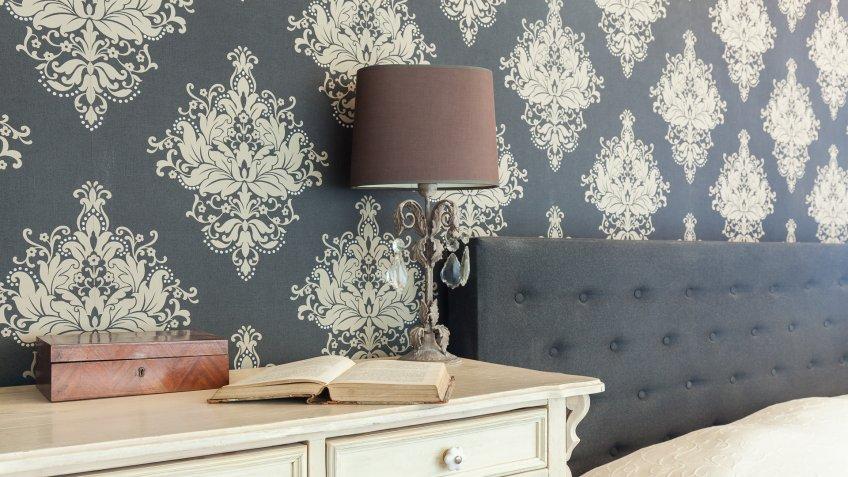 wallpaper in master bedroom