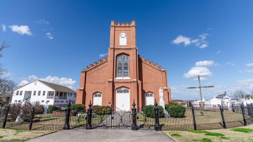 Church in Napoleonville, Louisiana - Image.