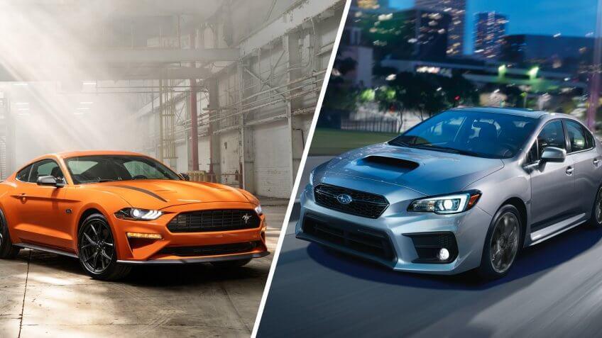 2020 Ford Mustang, 2020 Subaru WRX