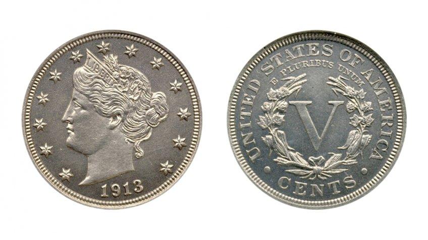 1913 Eliasberg Liberty Head Nickel.
