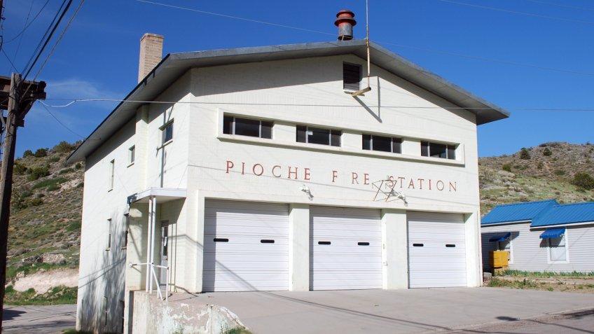 Volunteer Firehouse Pioche, Lincoln County Nevada - Image.