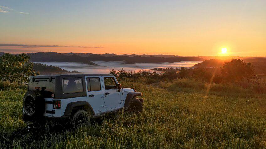 2018 Jeep JK Sunrise Southern West Virginia Mountains photograph taken Sept 2018.