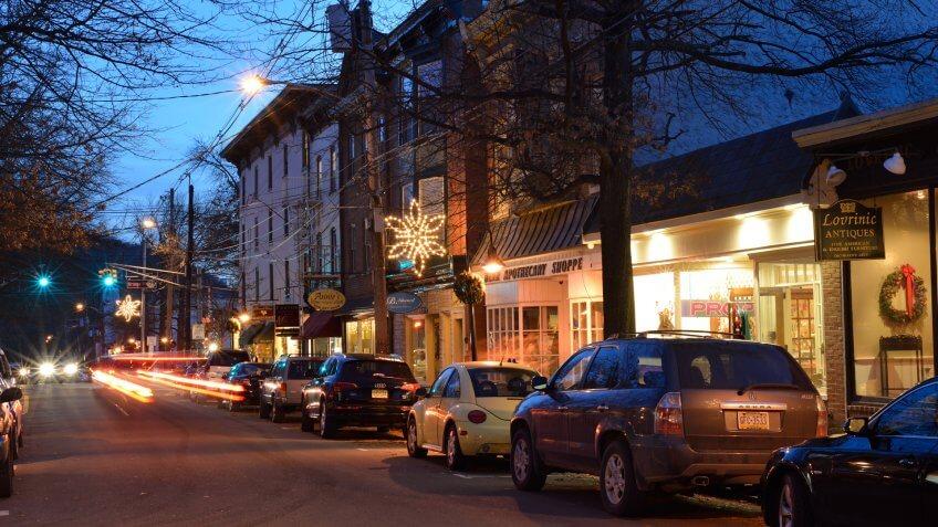 Lambertville, USA - December 28, 2013.