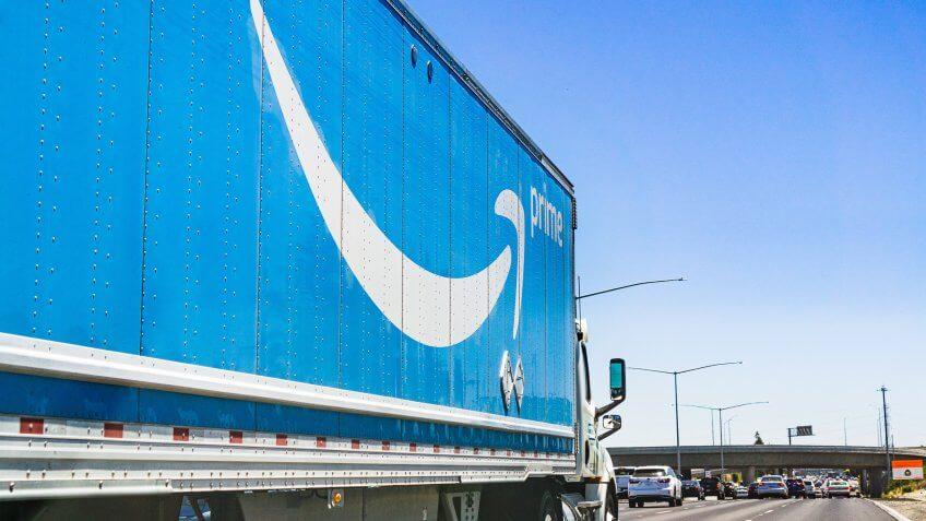 Amazon Prime semi-truck