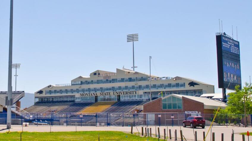 Bobcat Stadium Montana State University.