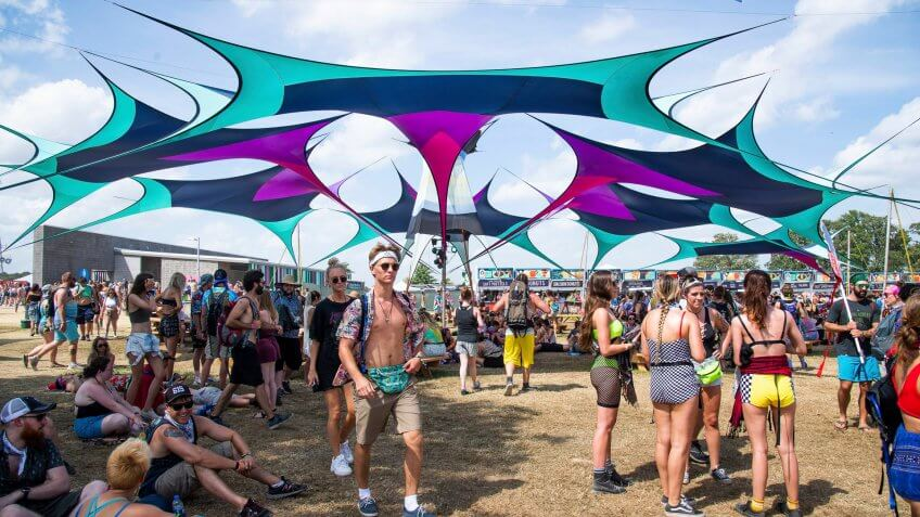 Bonnaroo Music Festival in Manchester Tennessee