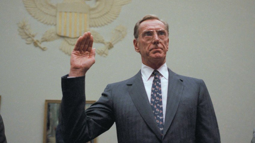 Charles Keating during hearing for Lincoln Savings and Loan