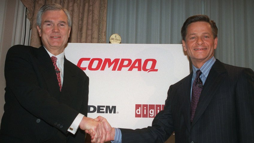 Compaq Computers merges with Digital Equipment Corporation