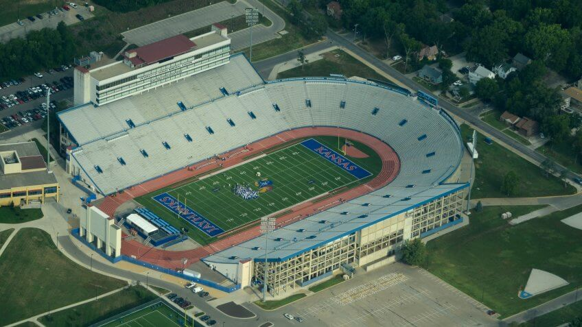 David Booth Kansas Memorial Stadium.