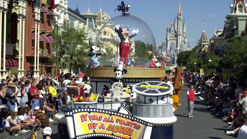 Disney World celebration with Mickey Mouse