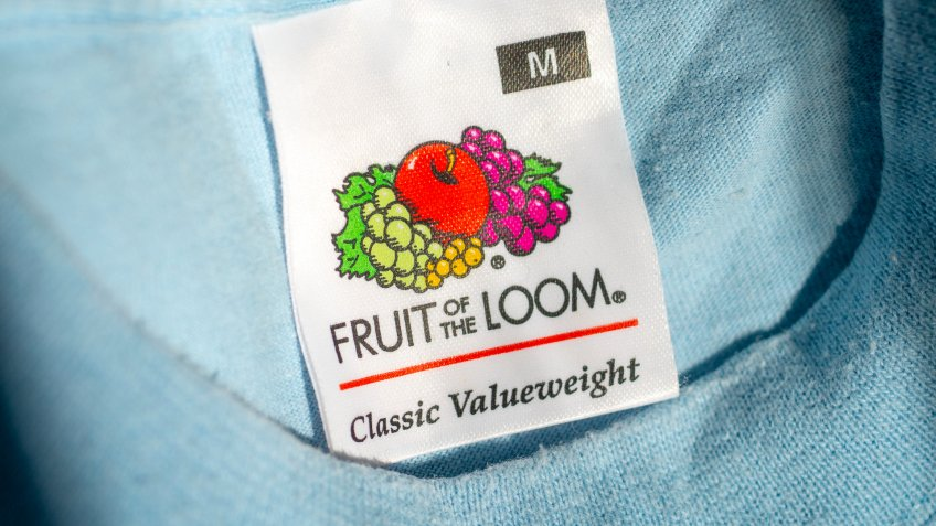 Fruit of the Loom tag on shirt