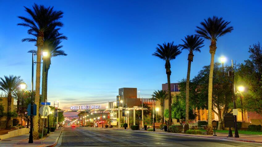 Henderson, officially the City of Henderson, is a city in Clark County, Nevada, United States, about 16 miles southeast of Las Vegas.