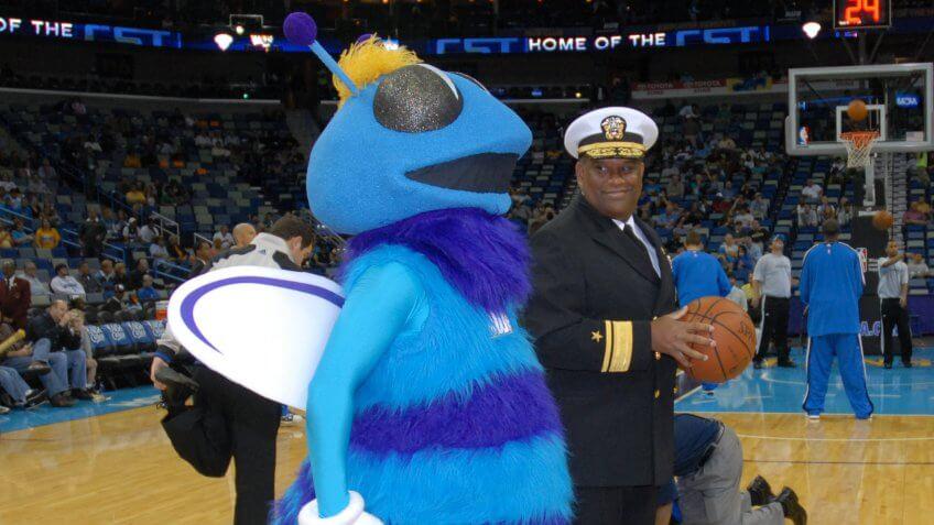 Hugo the Hornet Mascot
