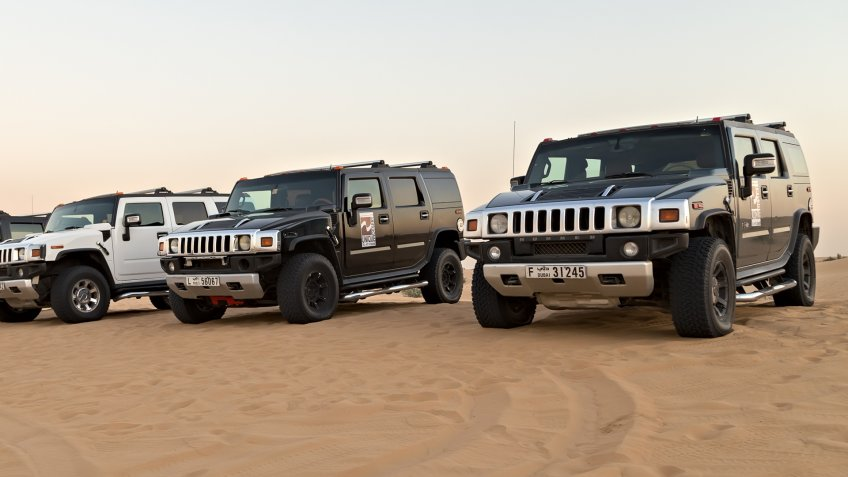 Hummers in the desert