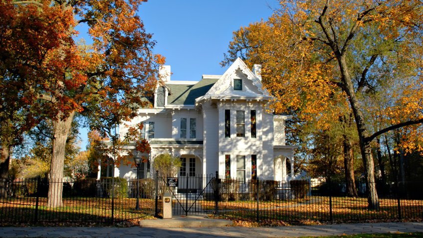 Historic home of President Harry S. Truman in Independence, Missouri.