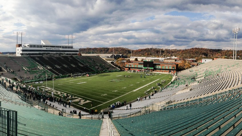 Joan C Edwards Stadium Marshall University West Virginia.