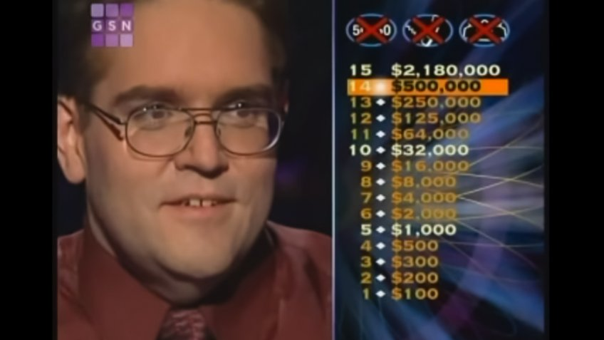 Kevin Olmstead Who Wants To Be A Millionaire Winner.