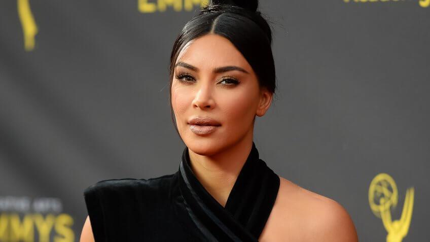 Mandatory Credit: Photo by Broadimage/Shutterstock (10414093cb)Kim Kardashian West71st Annual Primetime Creative Arts Emmy Awards, Day 1, Arrivals, Microsoft Theater, Los Angeles, USA - 14 Sep 2019.