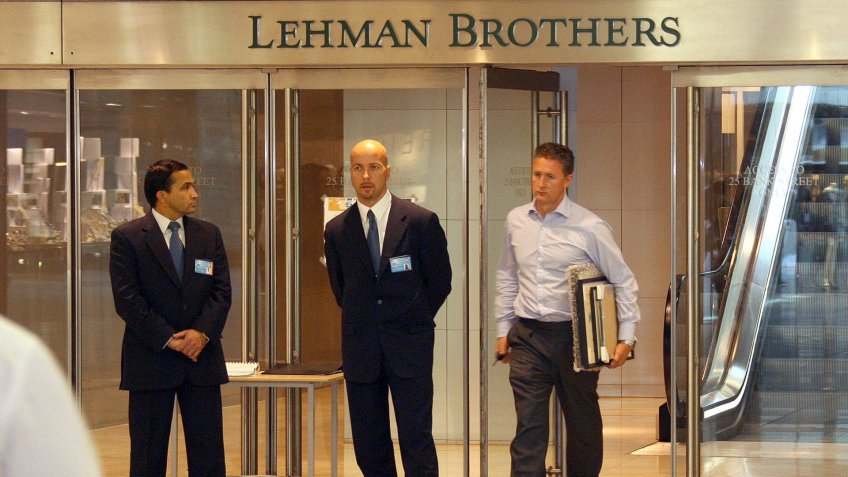 Lehman Brothers files bankruptcy