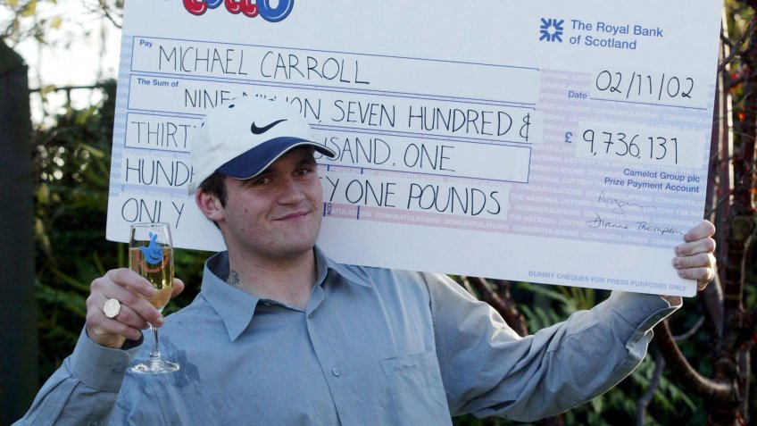 Michael Carroll lottery winner