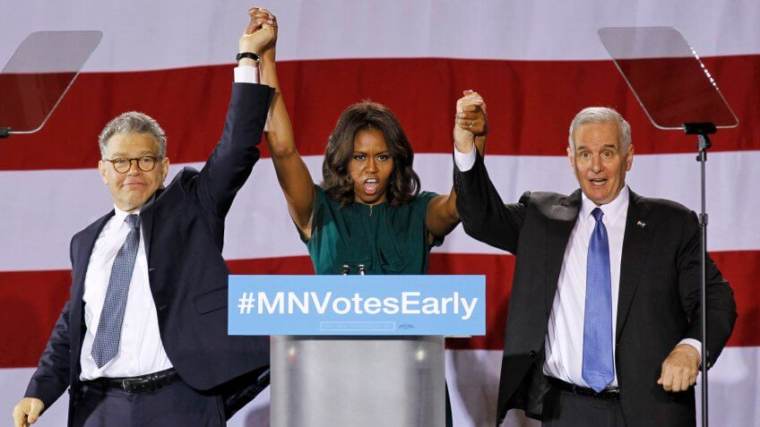 Michelle Obama, Al Franken, Mark Dayton attend Get Out The Vote rally