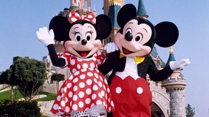 Mickey and Minnie Mouse at Disney World