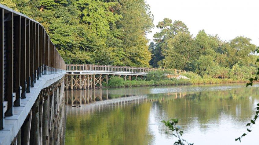 Morning at Lake Crabtree County Park, Morrisville, NC - Image.
