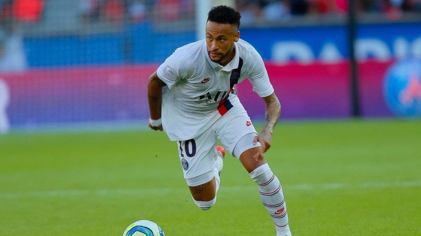 Mandatory Credit: Photo by Alfonso Jimenez/Shutterstock (10414056m)Neymar JrPSG v Strasbourg, French Ligue 1 football match, Parc des Princes, Paris, France - 14 Sep 2019.