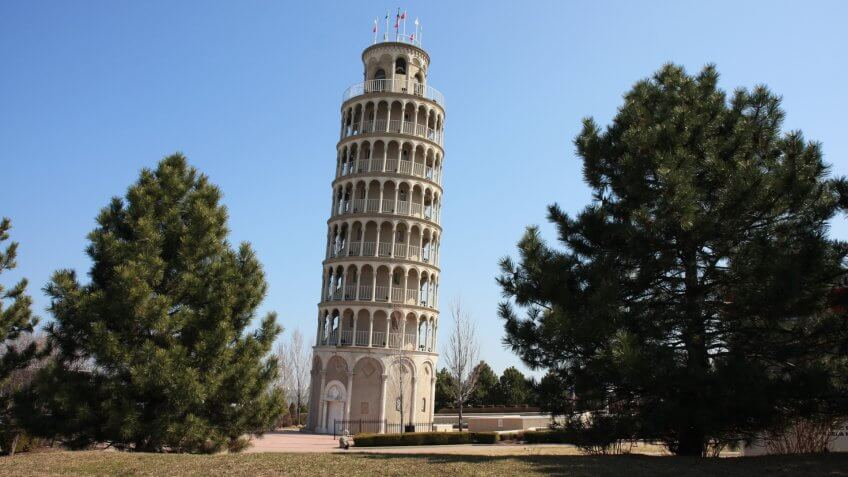 America's Leaning Tower is located in Niles, Illinois - Image.