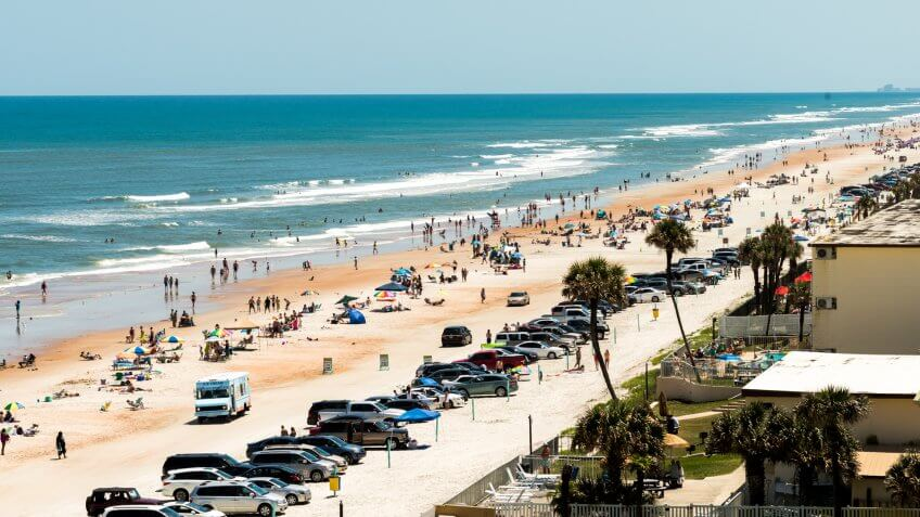 An afternoon shot of Ormond Beach in Florida.
