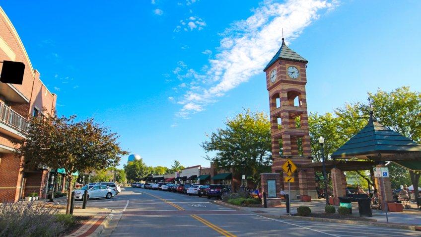 Overland Park Kansas Clock Tower.