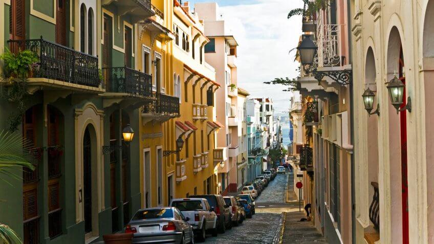 Colorful buildings in Old San Juan.