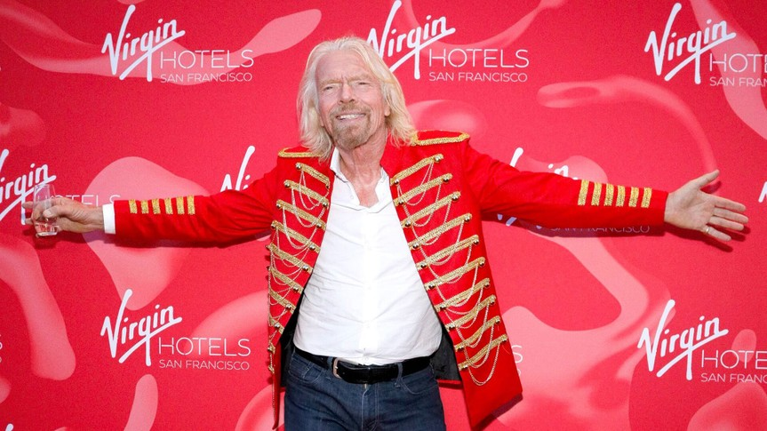 Sir Richard Branson Virgin Hotels San Francisco Grand Opening Party