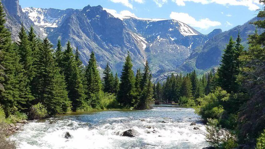 mountain lake Roscoe Montana - Image.
