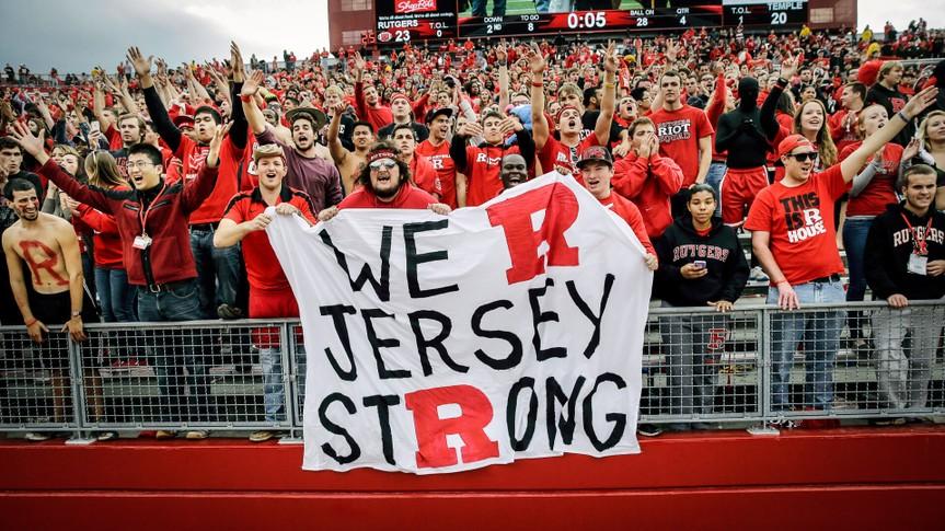 Rutgers University football fans