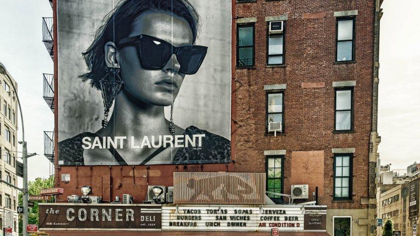 Saint Laurent billboard in New York City