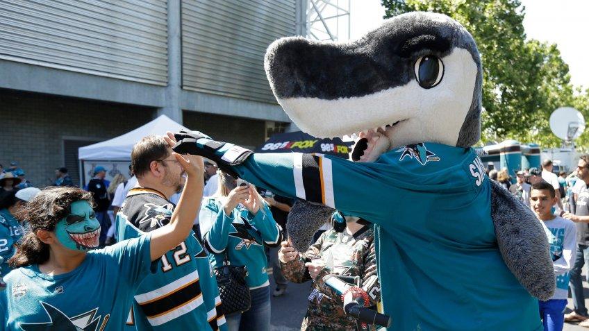 San Jose Sharks mascot SJ Sharkie