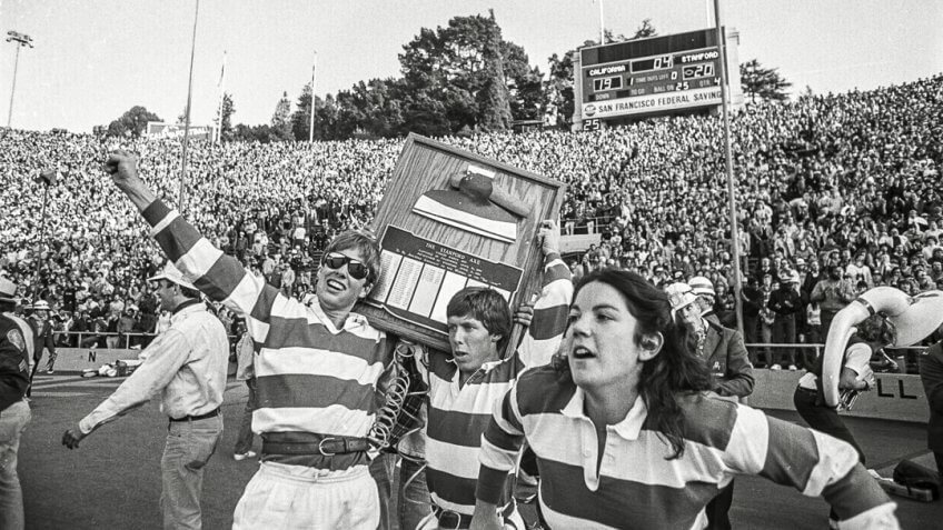 Stanford band goes wild prematurely before losing to Cal in 1982