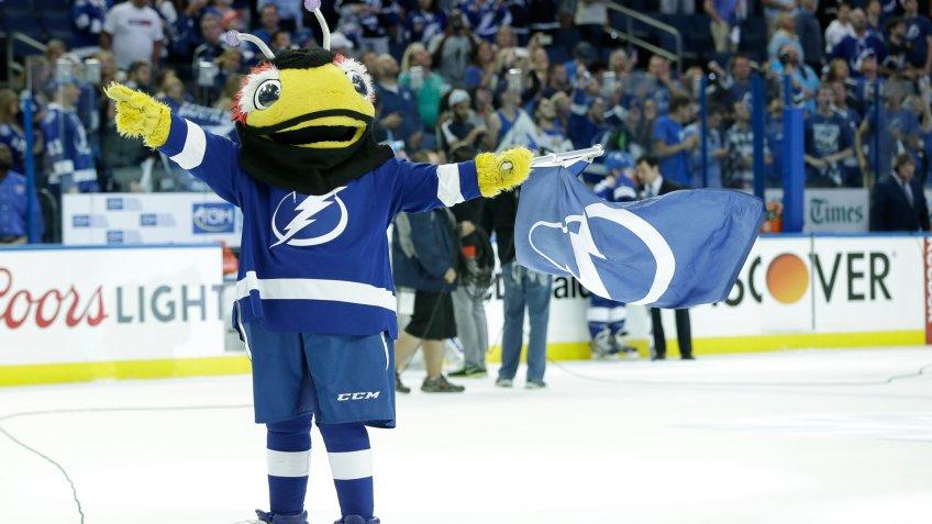 Tampa Bay Lightning mascot ThunderBug