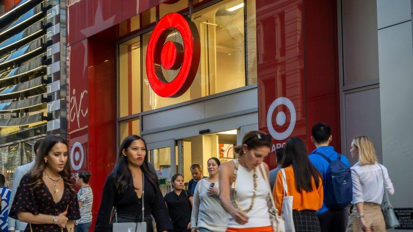 Target store with shoppers outside