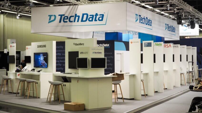 it-sa 2017 tradefair, Tech Data booth.