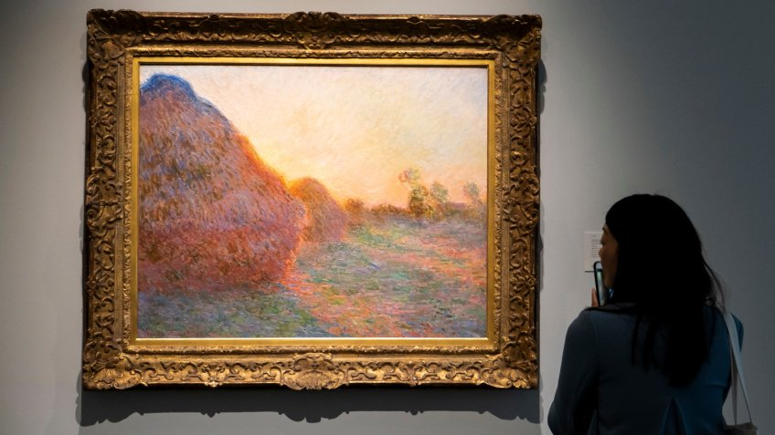 Meules by Claude Monet painting