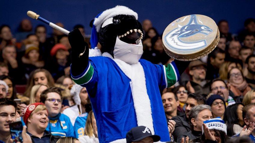Vancouver Canucks mascot Fin