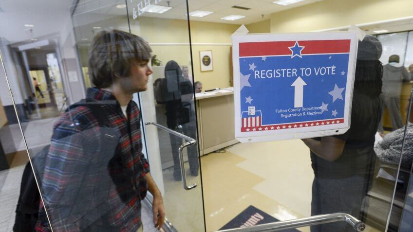 Voter registration at the polls on election day