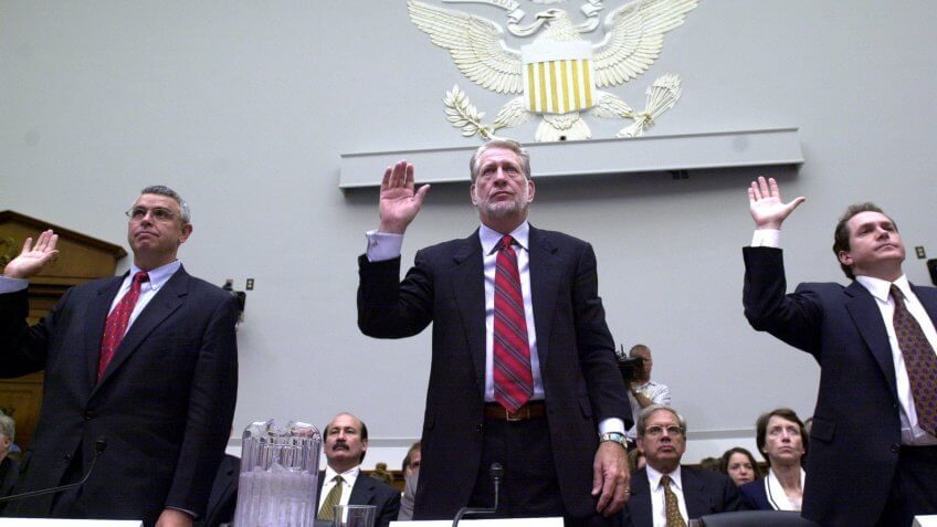 WorldCom CEO Bernard Ebbers testifies to House Financial Services Committee