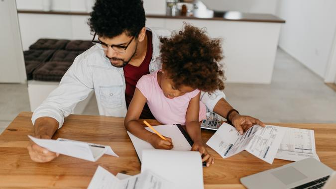 Single parent struggling with debt.
