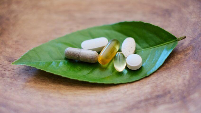 Natural supplements and vitamins.