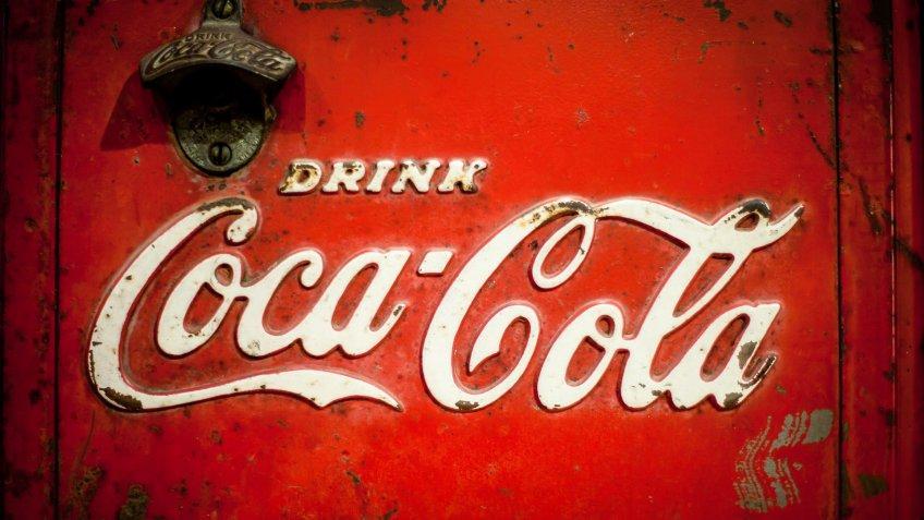 old Coca-Cola vending machine