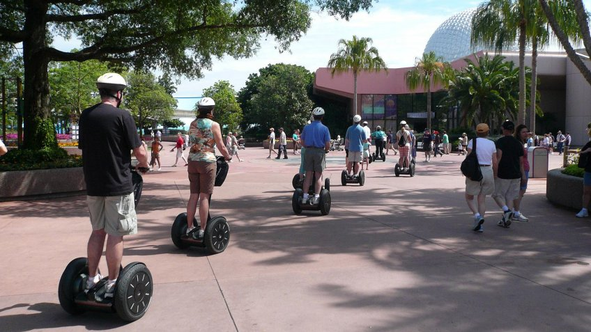 segway riders at Disney World